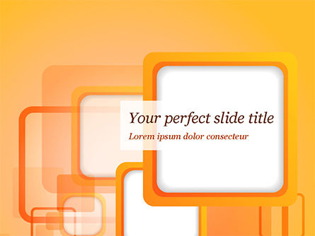 White Squares with Orange Frame PowerPoint Template, 15070, Abstract/Textures — PoweredTemplate.com