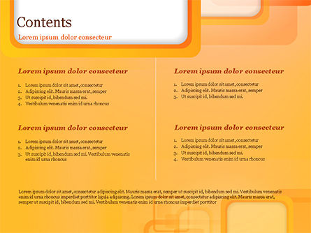 White Squares with Orange Frame PowerPoint Template, Slide 2, 15070, Abstract/Textures — PoweredTemplate.com