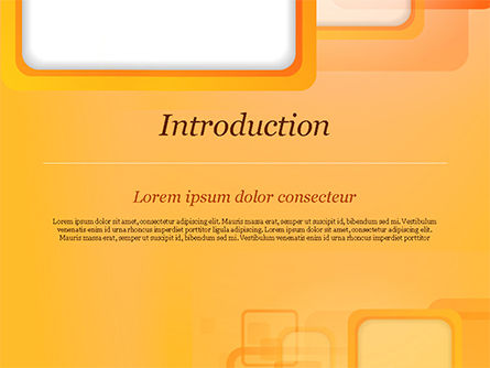 White Squares with Orange Frame PowerPoint Template, Slide 3, 15070, Abstract/Textures — PoweredTemplate.com