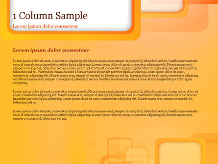 White Squares with Orange Frame PowerPoint Template, Slide 4, 15070, Abstract/Textures — PoweredTemplate.com
