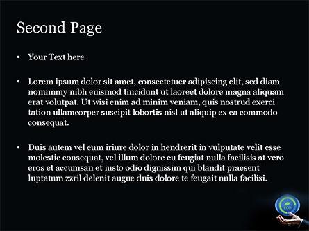Eco Symbol PowerPoint Template, Slide 2, 15074, Nature & Environment — PoweredTemplate.com