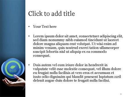 Eco Symbol PowerPoint Template, Slide 3, 15074, Nature & Environment — PoweredTemplate.com
