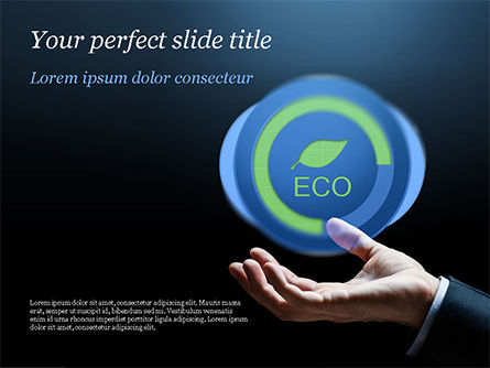 Eco Symbol PowerPoint Template, 15074, Nature & Environment — PoweredTemplate.com