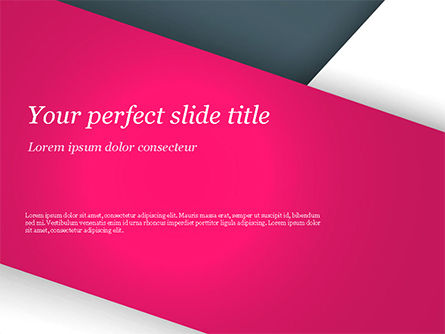 Abstract Background with Pink and White Paper Layers PowerPoint Template, 15076, Abstract/Textures — PoweredTemplate.com