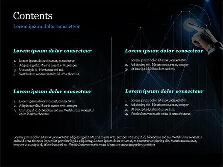 Digital Graph PowerPoint Template, Slide 2, 15079, Business Concepts — PoweredTemplate.com