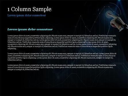 Digital Graph PowerPoint Template, Slide 4, 15079, Business Concepts — PoweredTemplate.com
