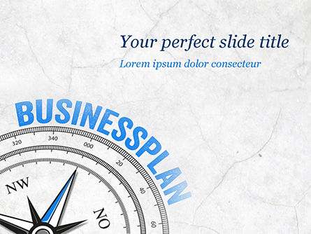 Business Plan Compass Concept PowerPoint Template, 15082, Business Concepts — PoweredTemplate.com