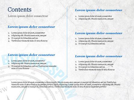 Business Plan Compass Concept PowerPoint Template, Slide 2, 15082, Business Concepts — PoweredTemplate.com