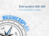 Business Concepts: Business Plan Compass Concept PowerPoint Template #15082