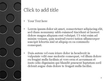 Dotted Metal Surface PowerPoint Template, Slide 3, 15083, Abstract/Textures — PoweredTemplate.com