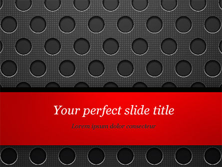 Dotted Metal Surface PowerPoint Template, 15083, Abstract/Textures — PoweredTemplate.com