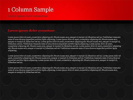 Dotted Metal Surface PowerPoint Template, Slide 4, 15083, Abstract/Textures — PoweredTemplate.com