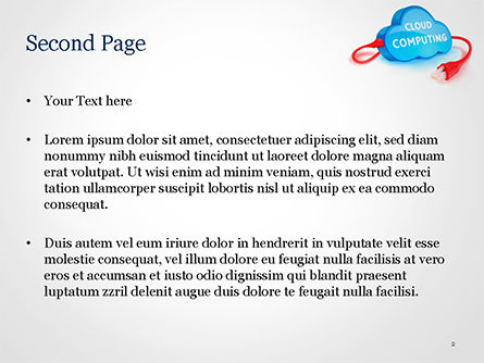 Cloud Computing Concept PowerPoint Template, Slide 2, 15087, Technology and Science — PoweredTemplate.com