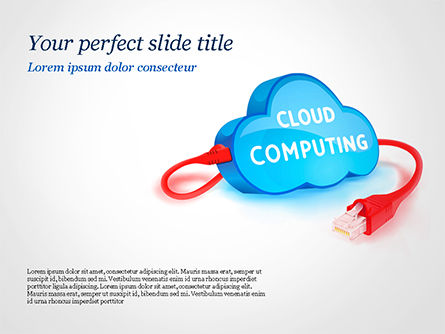 Cloud Computing Concept PowerPoint Template, 15087, Technology and Science — PoweredTemplate.com