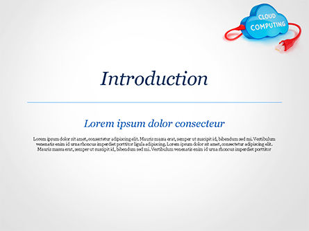 Cloud Computing Concept PowerPoint Template, Slide 3, 15087, Technology and Science — PoweredTemplate.com
