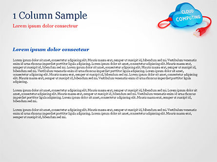 Cloud Computing Concept PowerPoint Template, Slide 4, 15087, Technology and Science — PoweredTemplate.com