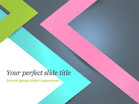 Abstract Cutting Edges PowerPoint Template, 15088, Abstract/Textures — PoweredTemplate.com