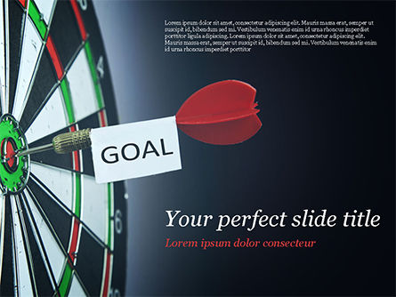 Business Concepts: Dart with Goal Text PowerPoint Template #15089
