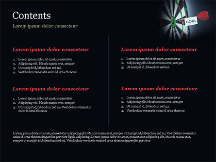 Dart with Goal Text PowerPoint Template, Slide 2, 15089, Business Concepts — PoweredTemplate.com