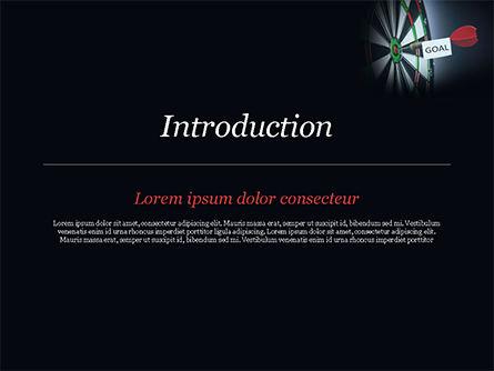 Dart with Goal Text PowerPoint Template, Slide 3, 15089, Business Concepts — PoweredTemplate.com