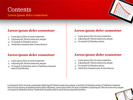Top View of Working Place Elements PowerPoint Template, Slide 2, 15090, Business Concepts — PoweredTemplate.com