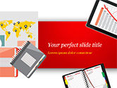 Business Concepts: Bovenaanzicht Van Werkplekelementen PowerPoint Template #15090