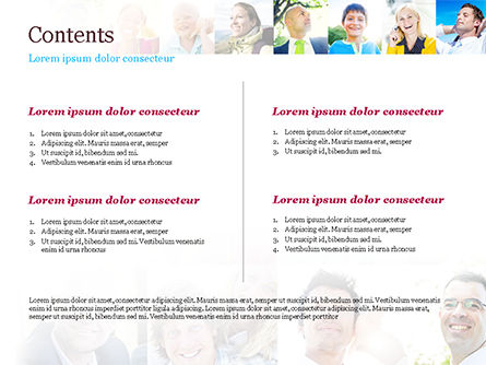 Multiethnic Diverse Cheerful People PowerPoint Template, Slide 2, 15094, People — PoweredTemplate.com