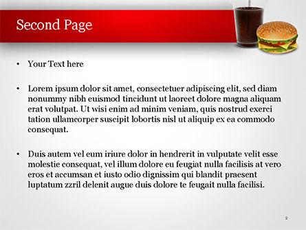 Fast Food Illustration PowerPoint Template, Slide 2, 15095, Food & Beverage — PoweredTemplate.com