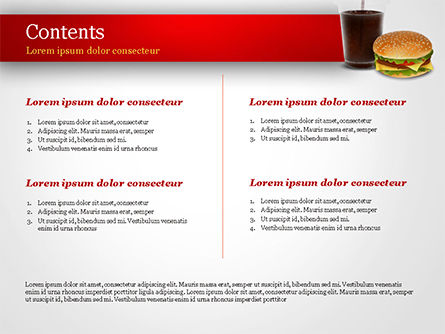 Fast Food Illustration PowerPoint Template, Slide 2, 15095, Food & Beverage — PoweredTemplate.com