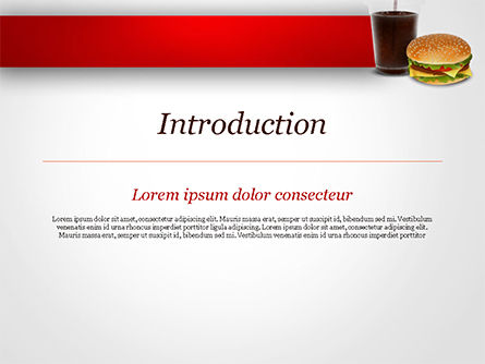 Fast Food Illustration PowerPoint Template, Slide 3, 15095, Food & Beverage — PoweredTemplate.com