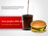 Food & Beverage: Fast Food Illustration PowerPoint Template #15095
