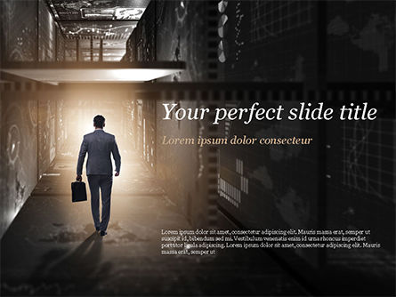 Out of Darkness PowerPoint Template, 15098, Business Concepts — PoweredTemplate.com