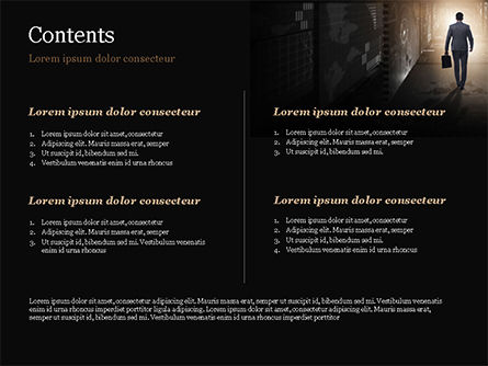 Out of Darkness PowerPoint Template, Slide 2, 15098, Business Concepts — PoweredTemplate.com
