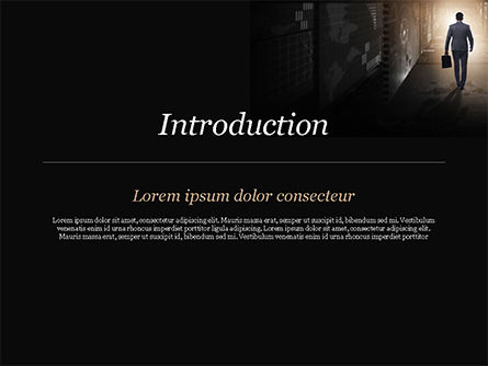 Out of Darkness PowerPoint Template, Slide 3, 15098, Business Concepts — PoweredTemplate.com