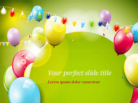Colorful Balloons and Garlands PowerPoint Template, 15099, Holiday/Special Occasion — PoweredTemplate.com
