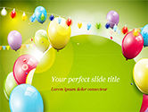 Holiday/Special Occasion: Modello PowerPoint - Palloncini colorati e ghirlande #15099