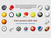 Sports: Sports Equipment Icons PowerPoint Template #15100