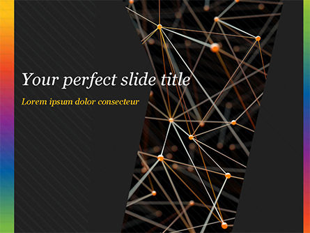 Abstract/Textures: Connected Orange Dots PowerPoint Template #15101