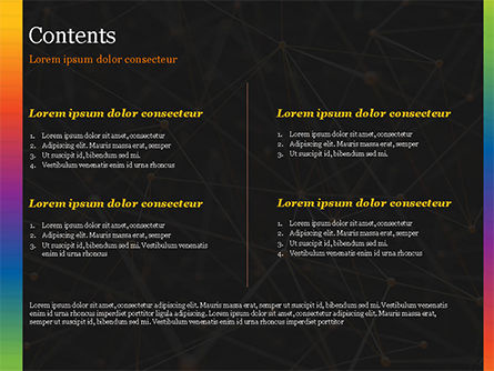 Connected Orange Dots PowerPoint Template, Slide 2, 15101, Abstract/Textures — PoweredTemplate.com