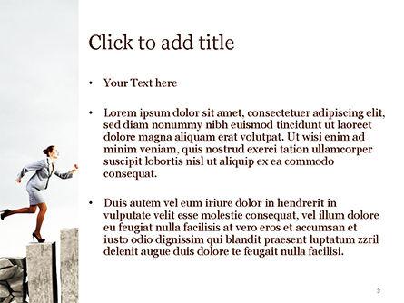 Business Woman Runs Up PowerPoint Template, Slide 3, 15102, Business Concepts — PoweredTemplate.com