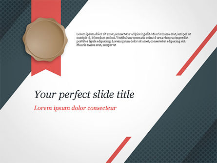 Certificate with Modern Pattern PowerPoint Template, 15103, Abstract/Textures — PoweredTemplate.com