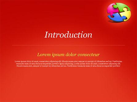 Four Part Puzzle PowerPoint Template, Slide 3, 15104, 3D — PoweredTemplate.com