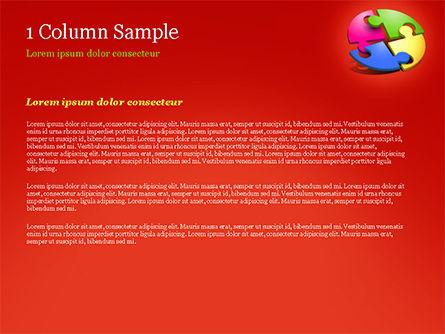 Four Part Puzzle PowerPoint Template, Slide 4, 15104, 3D — PoweredTemplate.com