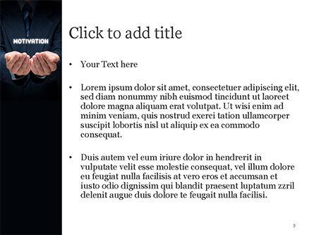 Glowing Word Motivation PowerPoint Template, Slide 3, 15105, Business Concepts — PoweredTemplate.com
