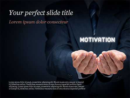 Business Concepts: Glowing Word Motivation PowerPoint Template #15105