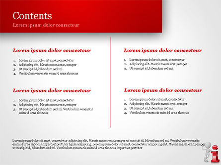3D Person Standing Next to Letter PowerPoint Template, Slide 2, 15109, 3D — PoweredTemplate.com