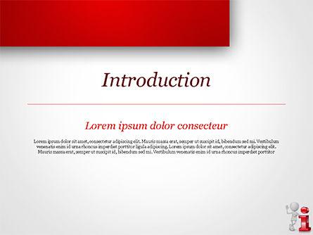 3D Person Standing Next to Letter PowerPoint Template, Slide 3, 15109, 3D — PoweredTemplate.com
