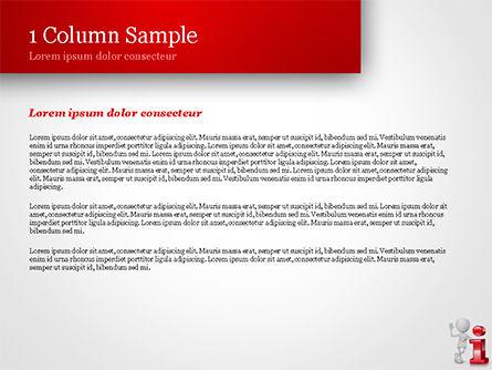 3D Person Standing Next to Letter PowerPoint Template, Slide 4, 15109, 3D — PoweredTemplate.com