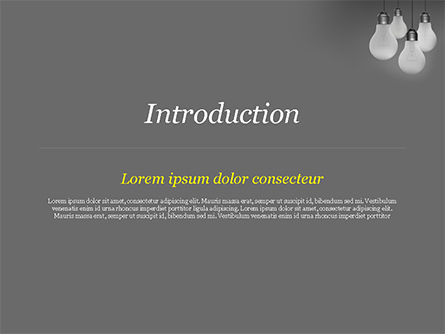 Light Bulbs on Gray Background PowerPoint Template, Slide 3, 15111, Business Concepts — PoweredTemplate.com
