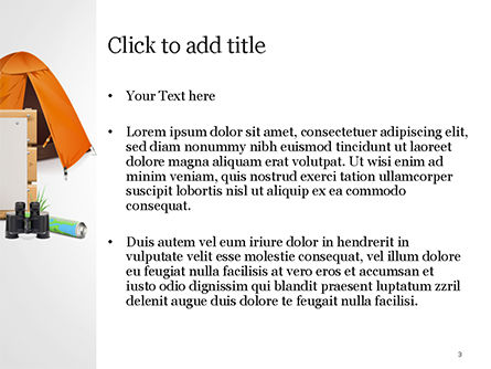 Tent PowerPoint Template, Slide 3, 15113, Holiday/Special Occasion — PoweredTemplate.com